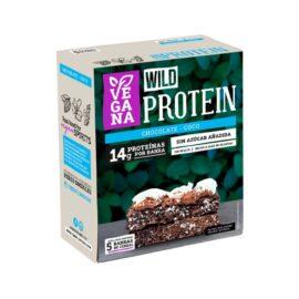 Wild Protein Vegana Chocolate Coco 5 unidades