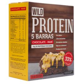Wild Protein chocolate-mani   5 Barras   225gr