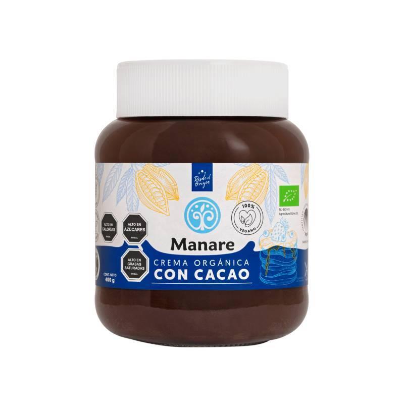 Crema orgánica con Cacao 400 gr – Manare